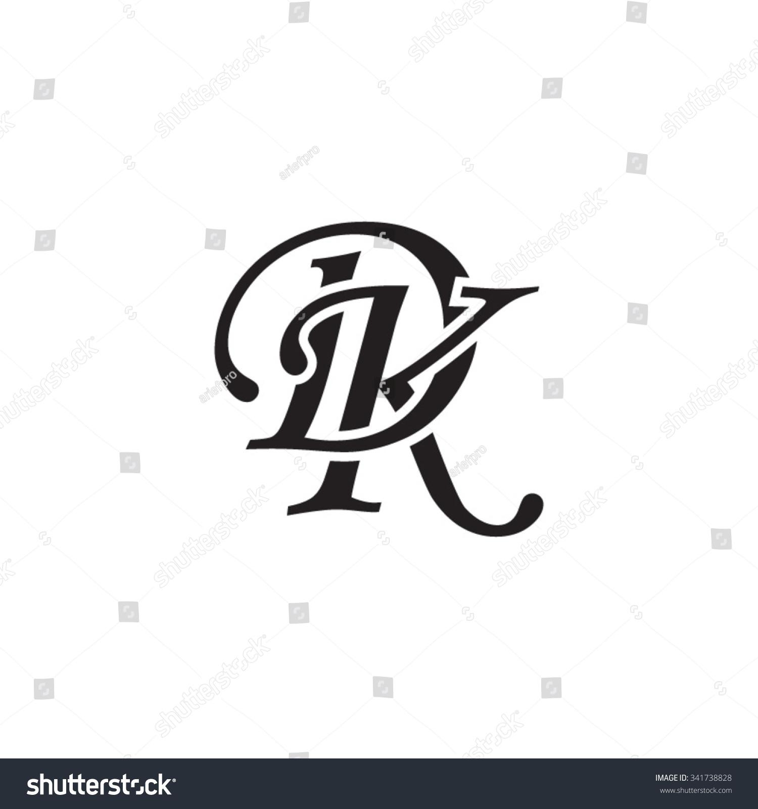 dk initial monogram logo stock vector royalty free 341738828