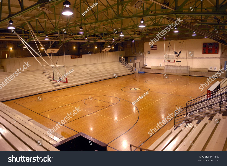 old school basketball court gymnasium stock photo 3417589 shutterstock. Black Bedroom Furniture Sets. Home Design Ideas