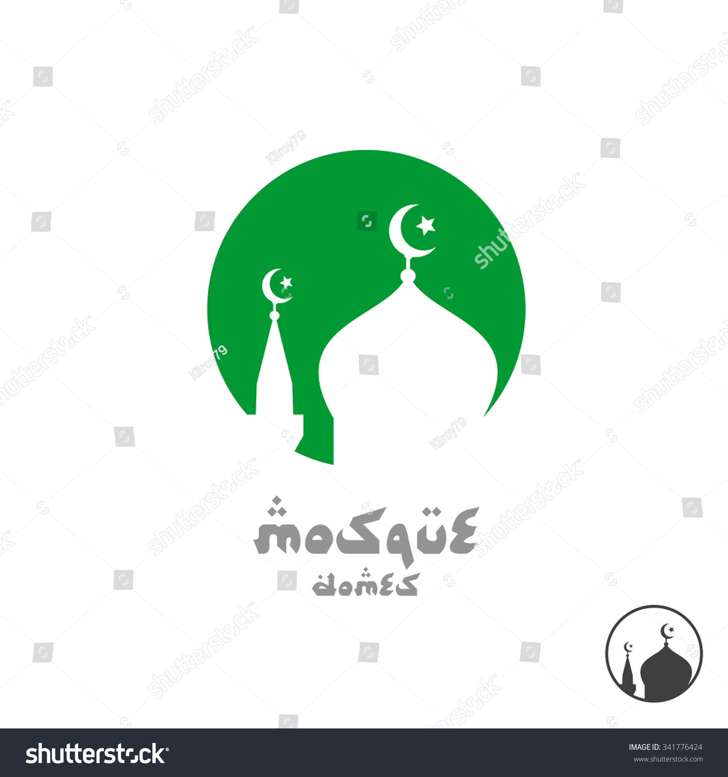 Arabian religious logo mosque silhouette round stock vector arabian religious logo mosque silhouette in a round sign biocorpaavc