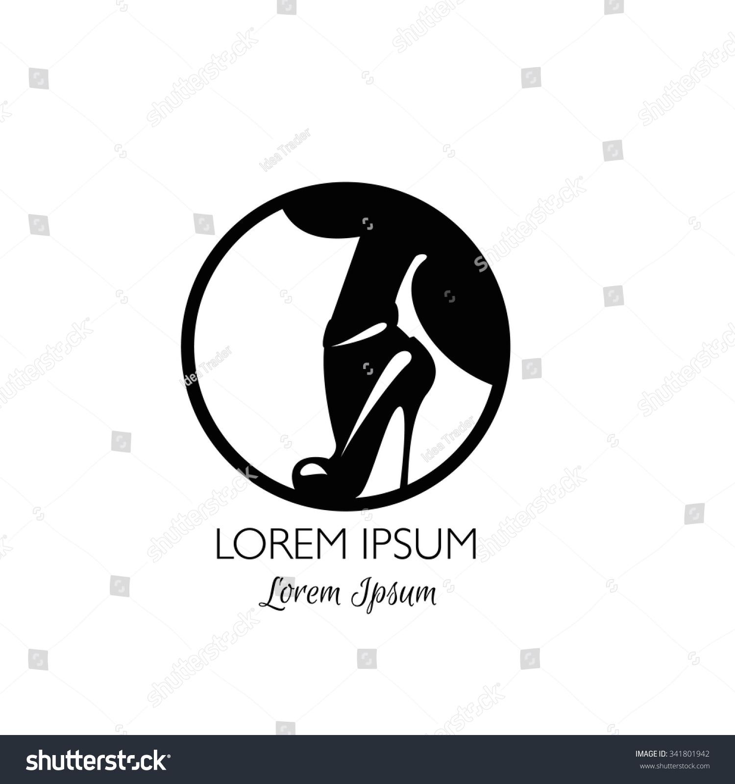 high heel women shoes icon logo stock vector shutterstock