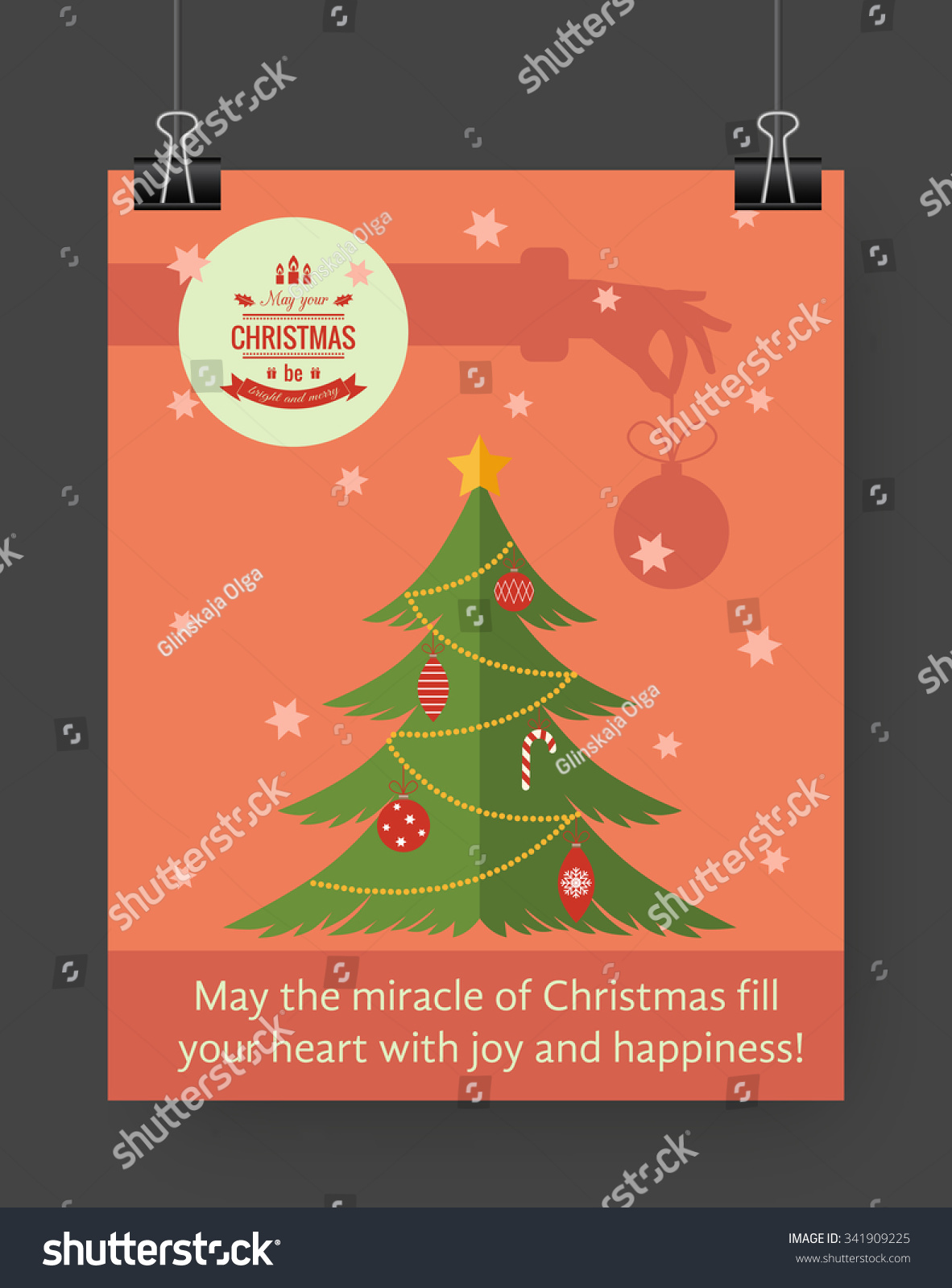 christmas brochure template flat flyer design xmas fir tree christmas brochure template flat flyer design xmas fir tree christmas logo vector illustration