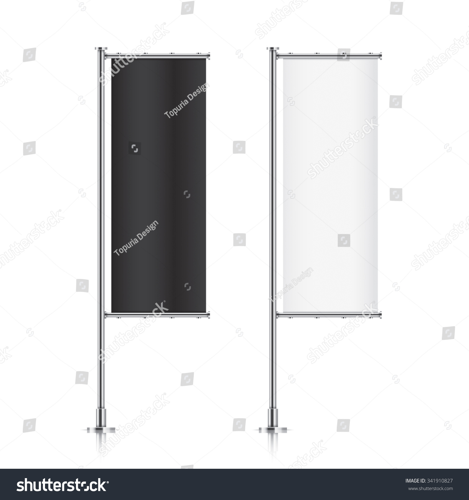 Fabric Exhibition Stand Mockup : Flag mockup banner templates set stock vector