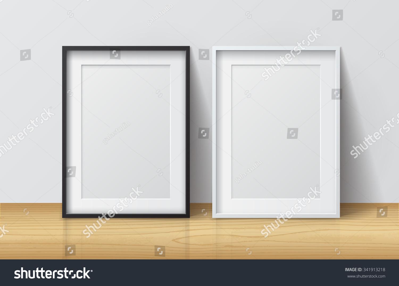 mock up frame on the table. 3d rendering, 3d illustration   EZ Canvas