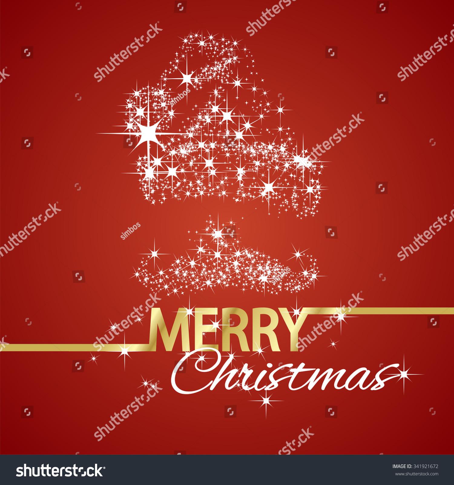 Santa claus symbol stars red background stock vector