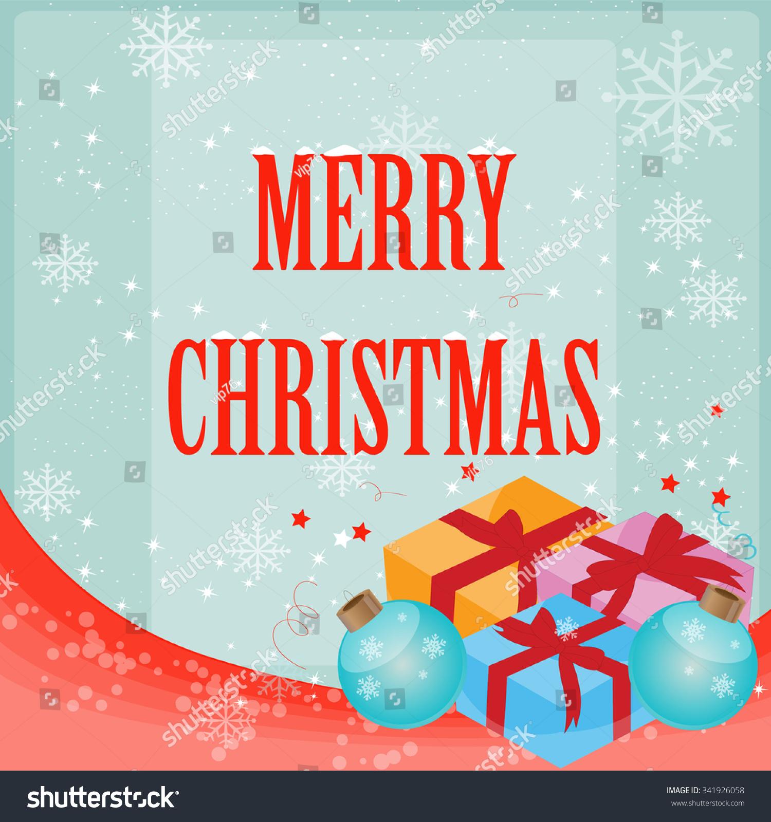 Christmas Creative Greeting Card Design Vector Stock Vector Royalty