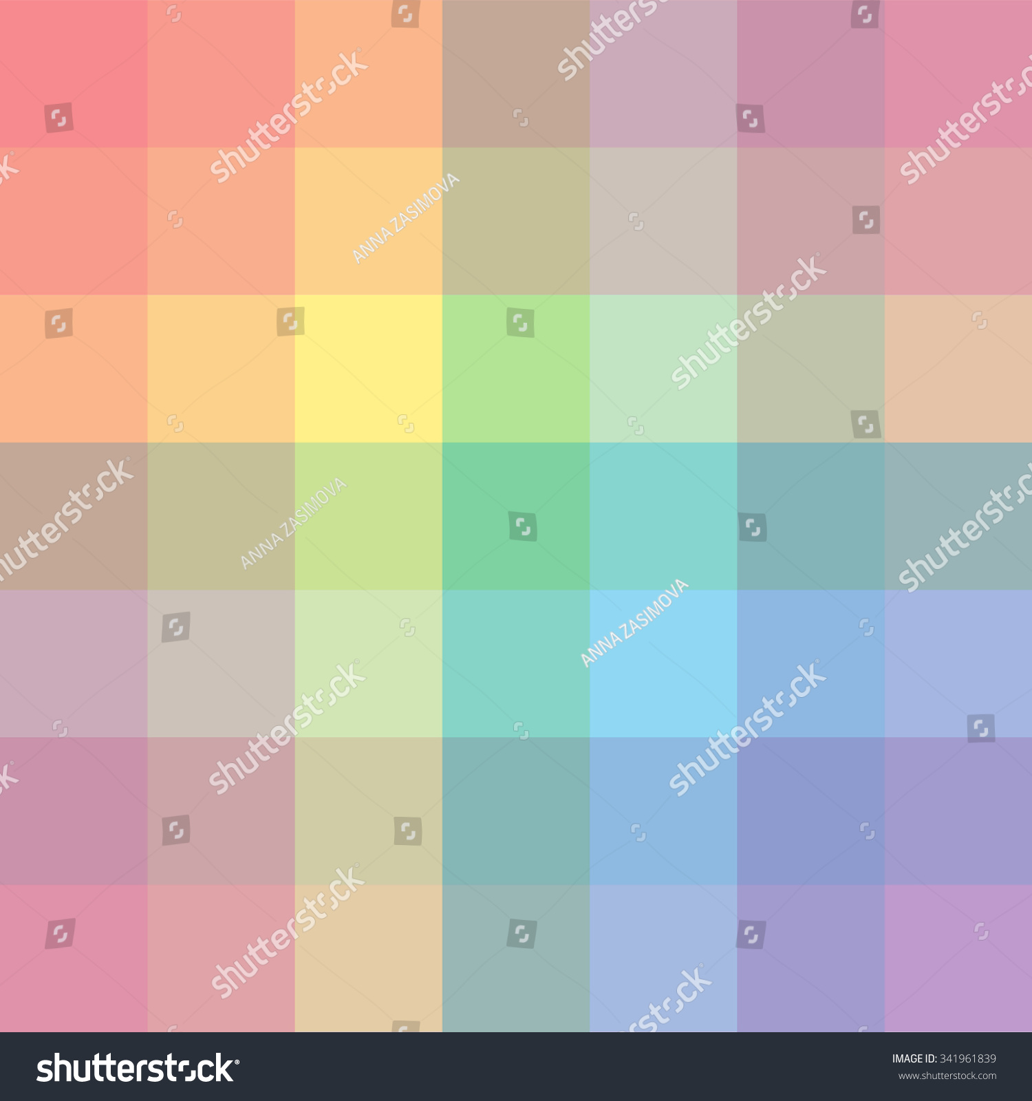 The Palette Of Colors. Imposition Of Color On Color ...