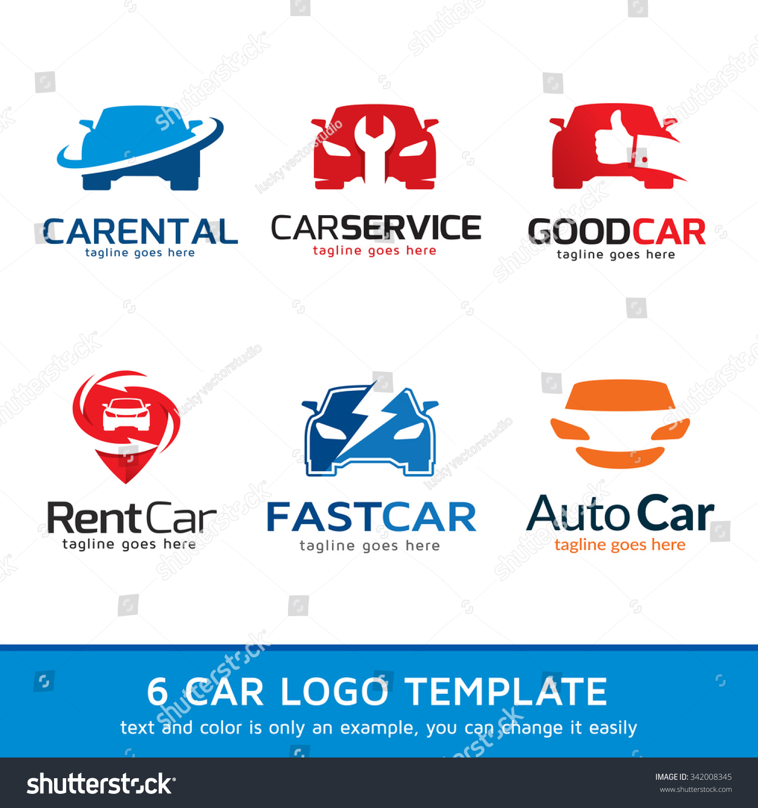 Automotive Car Logo Template Design Vector Stockvector Rechtenvrij