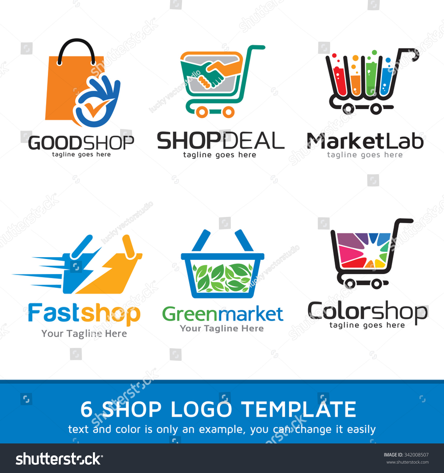 shop market logo template design vector �� ��� 342008507