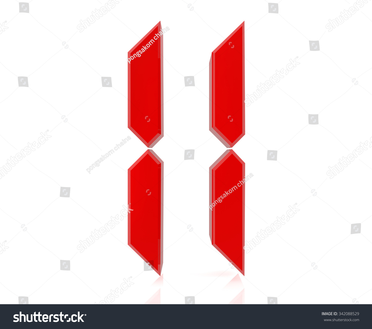 Red Digital Numbers 11 On White Background 3d Rendering ...