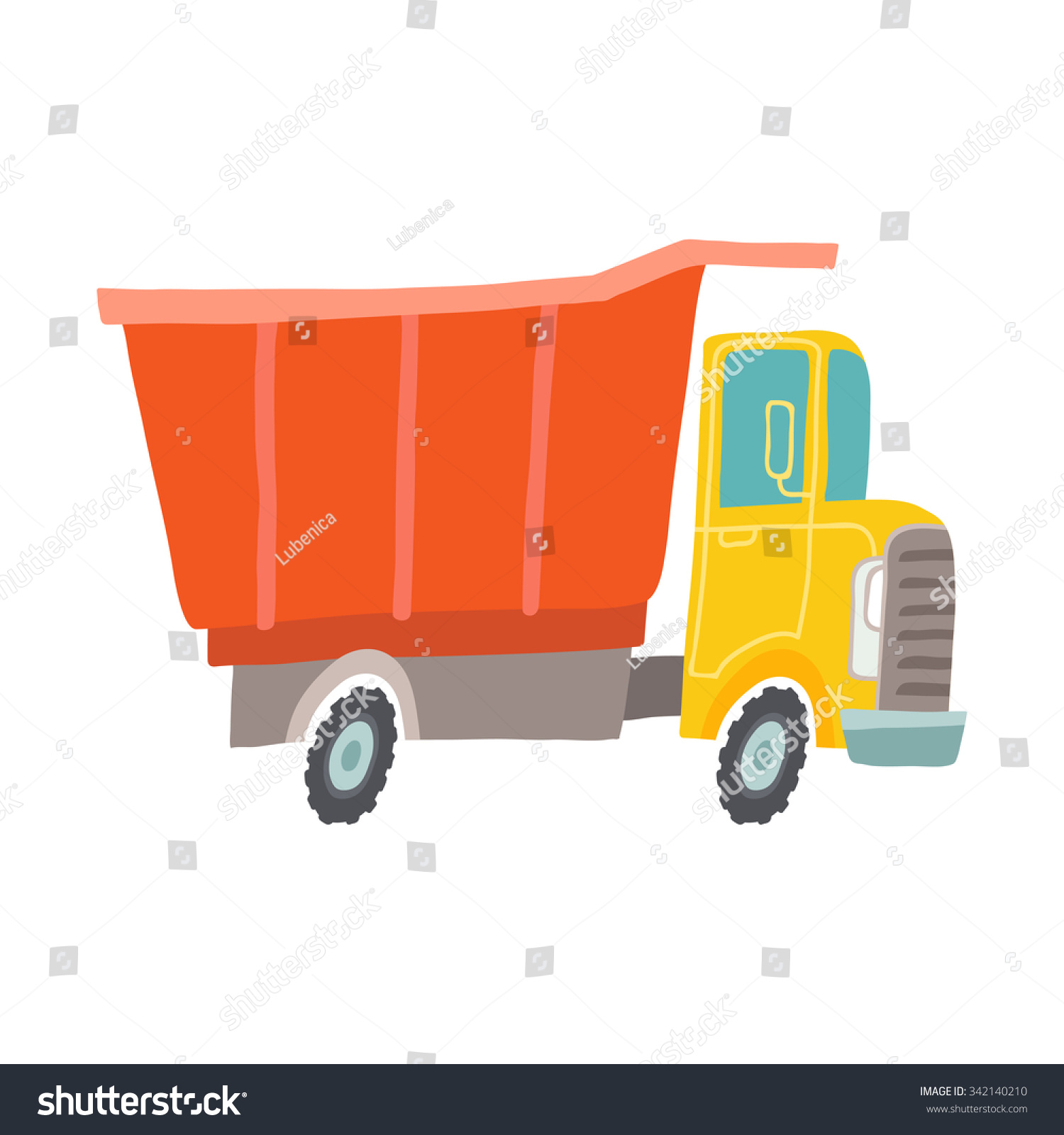 Vector Toy Truck Kids First Toys Stock Vector Shutterstock