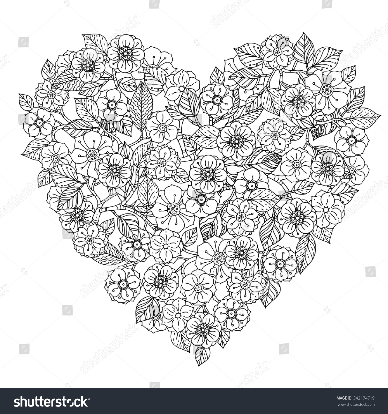 Best mandala coloring pages - Hand Drawing Zentangle Element Black And White Flower Mandala Style Vector Illustration