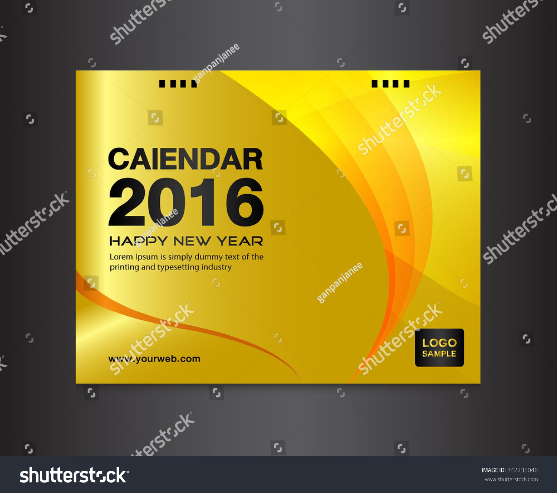 Gold Cover Calendar Template Cover Vector Vector 342235046 – Calendar Sample Design