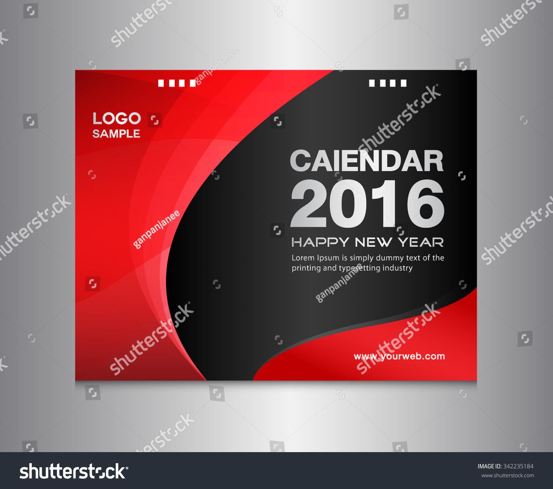 Calendar Cover : Red cover calendar template vector stock