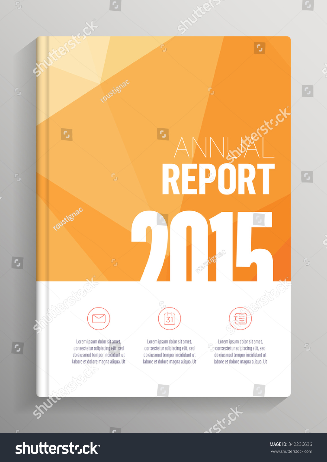annual report 2015 cover low poly stock vektor 342236636 annual report 2015 cover low poly cover layout for books brochures flyers