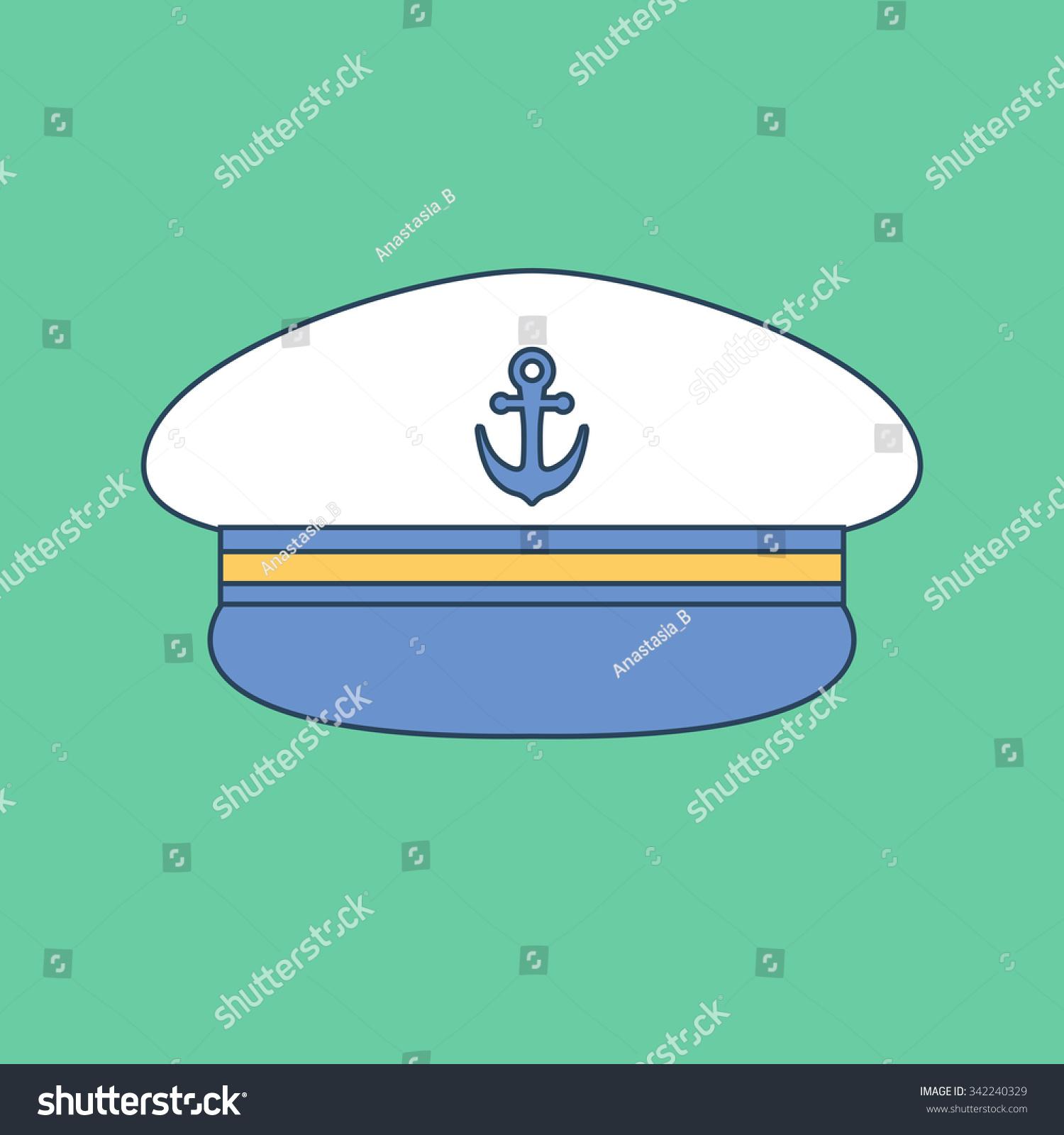 34c66f3d Captain hat. Sailor cap. Vector… Stock Photo 342240329 - Avopix.com