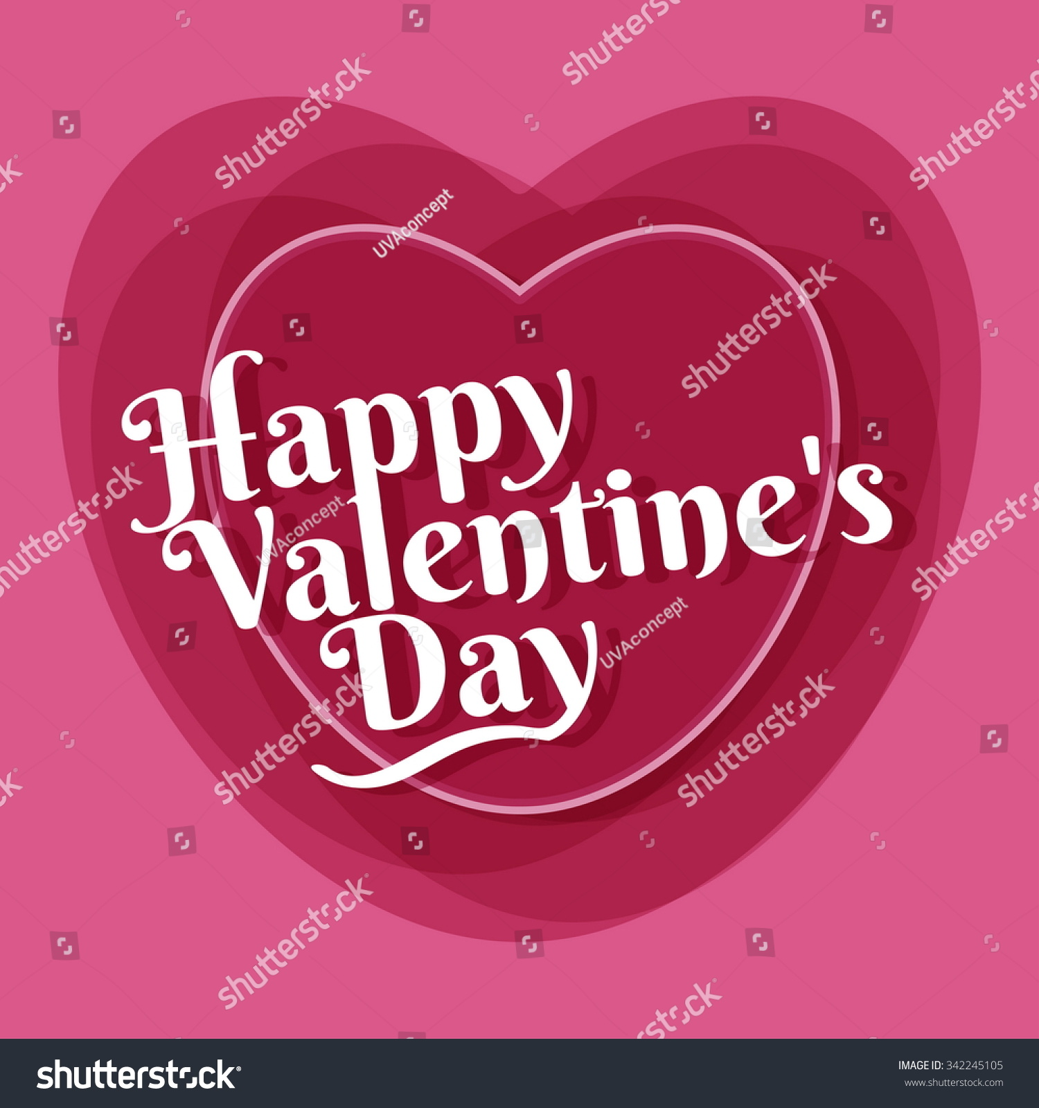 Happy Valentines Greeting Card Template Vector Ez Canvas