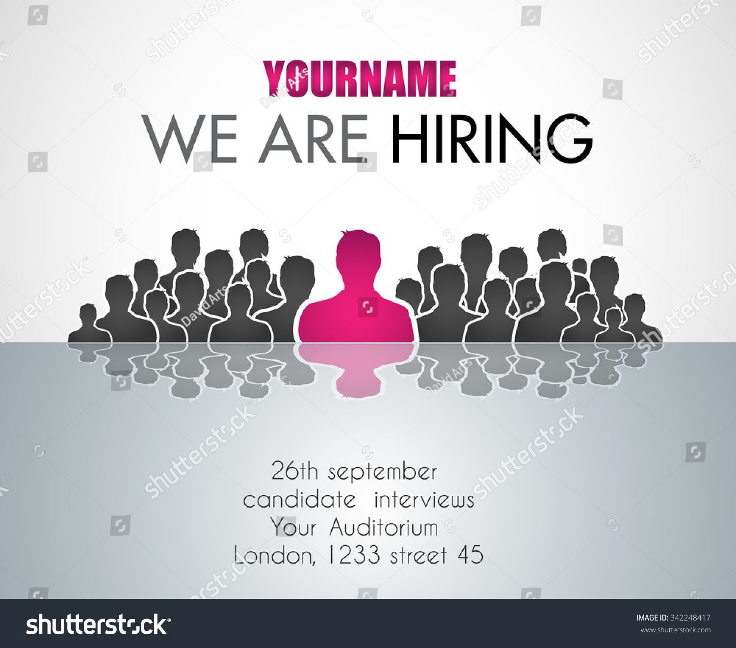 We Are Hiring background for your hiring posters and flyer. Simple and ...