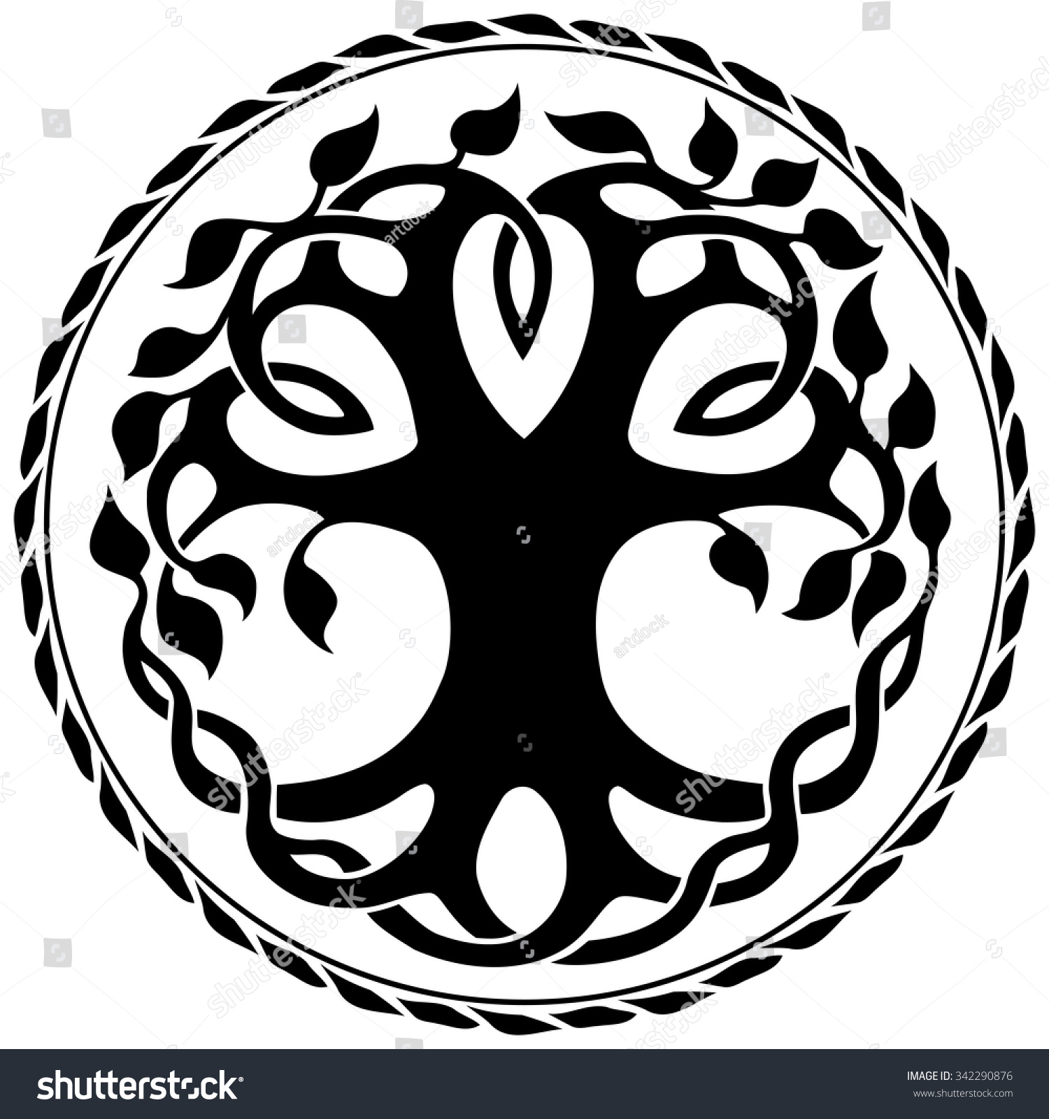 how to draw celtic tree of life