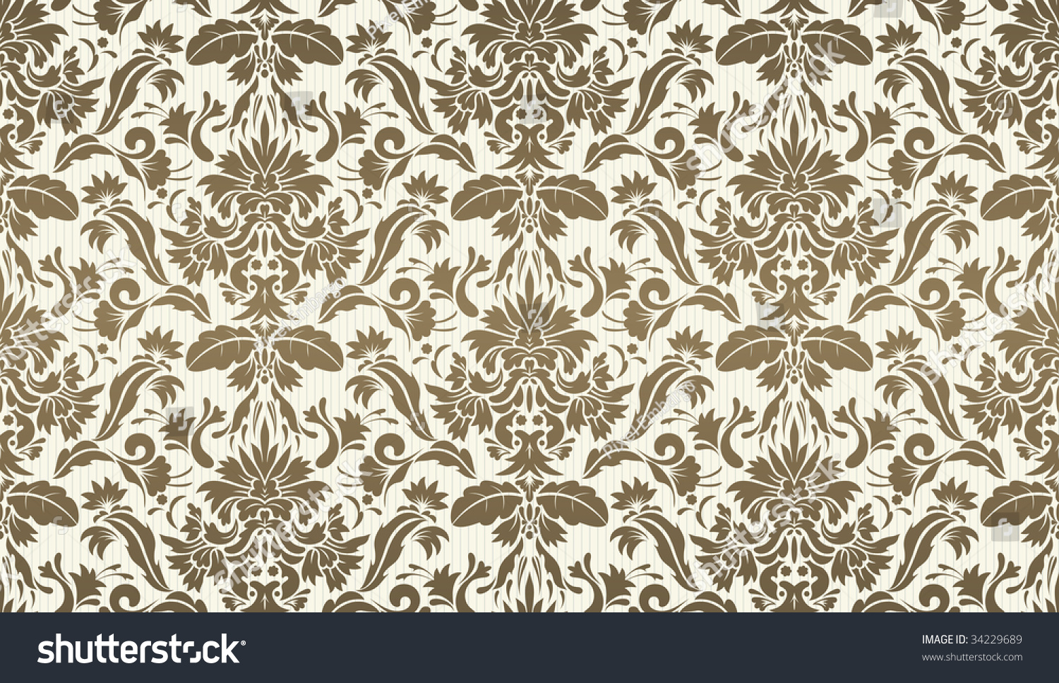 vector illustration of seamless ornate floral decorative wallpaper background - Decorative Wallpaper
