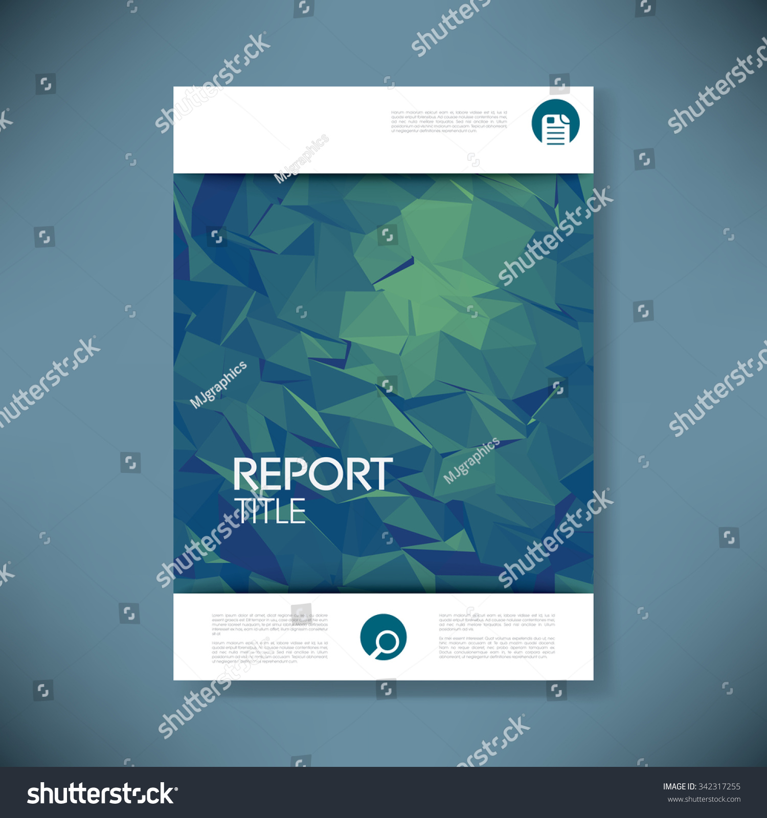 report cover template d low poly stock vector  report cover template 3d low poly vector background business brochure or presentation title page