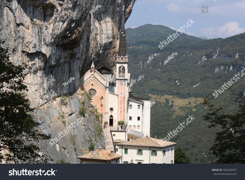 View Madonna Della Corona Sanctuary Ferrara Stock Photo