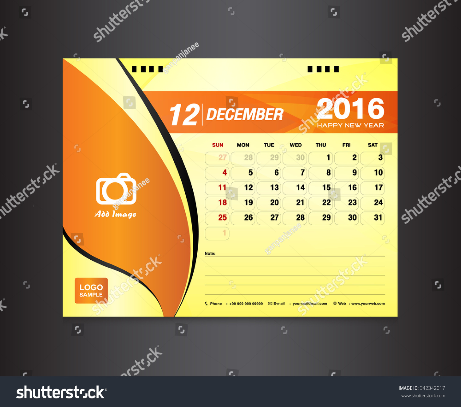 Desk Calendar Template. Vector Design Template. January Month. Calendar  Design, Calendar Template  Calendar Sample Design