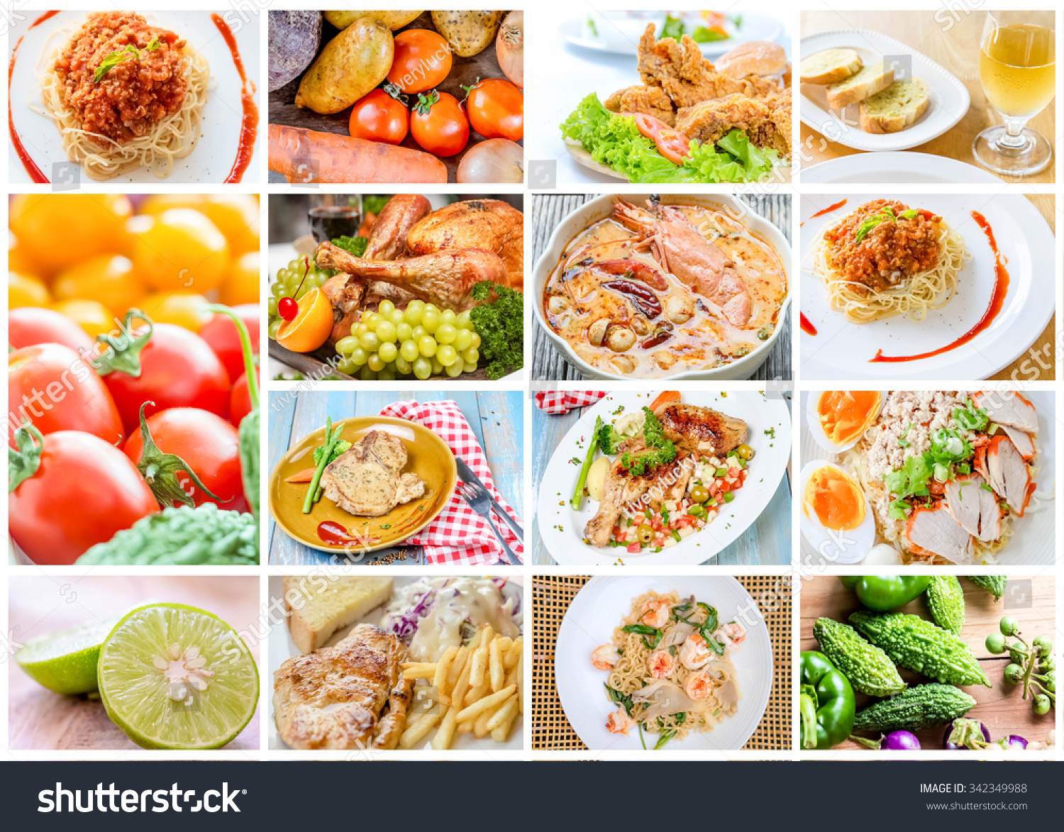 Royalty free collage of food menu asian american for Asia asian cuisine menu