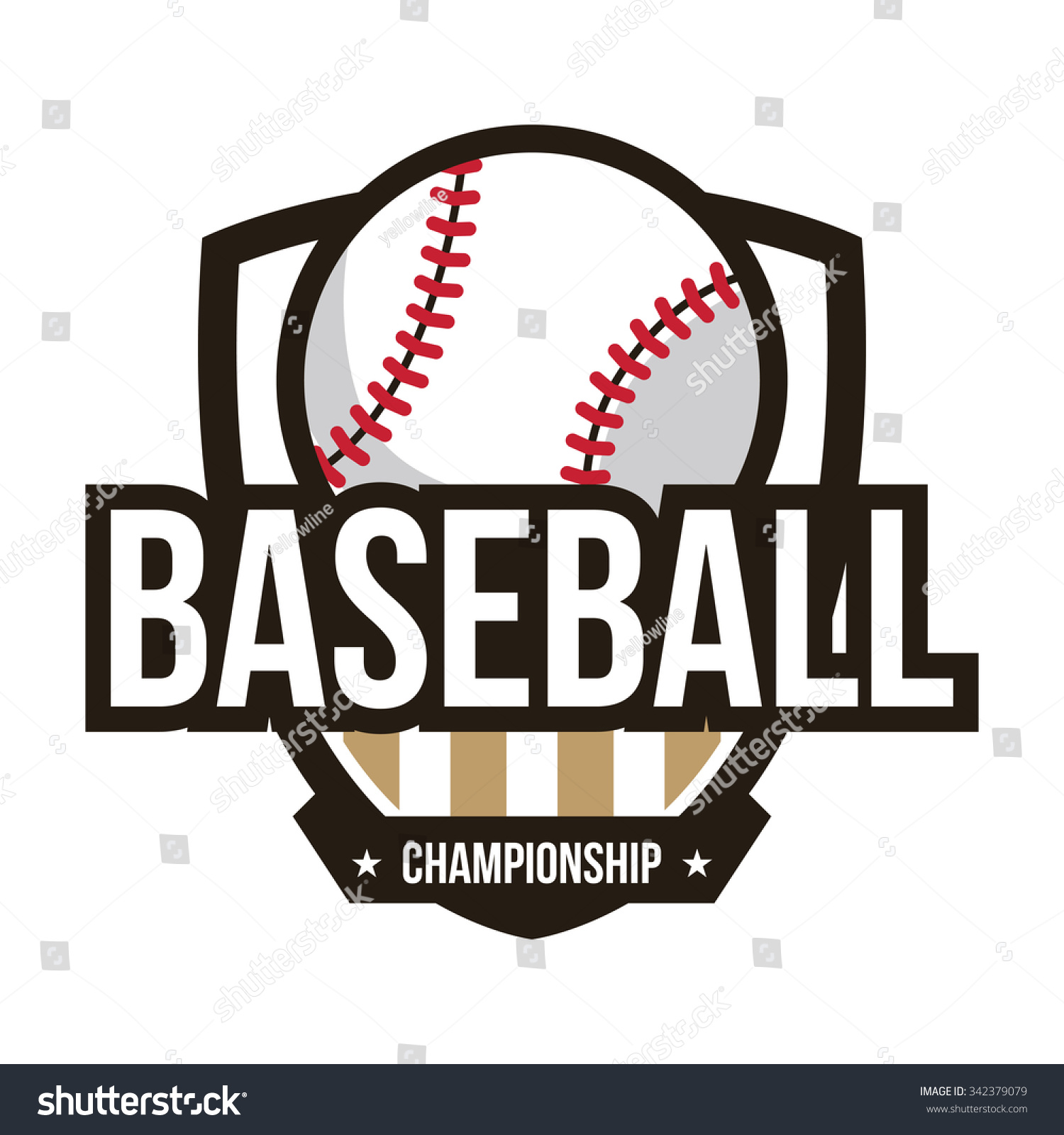baseball logo american logo sport stock vector 342379079 Extreme Baseball Logo Designs Cool Baseball Logos