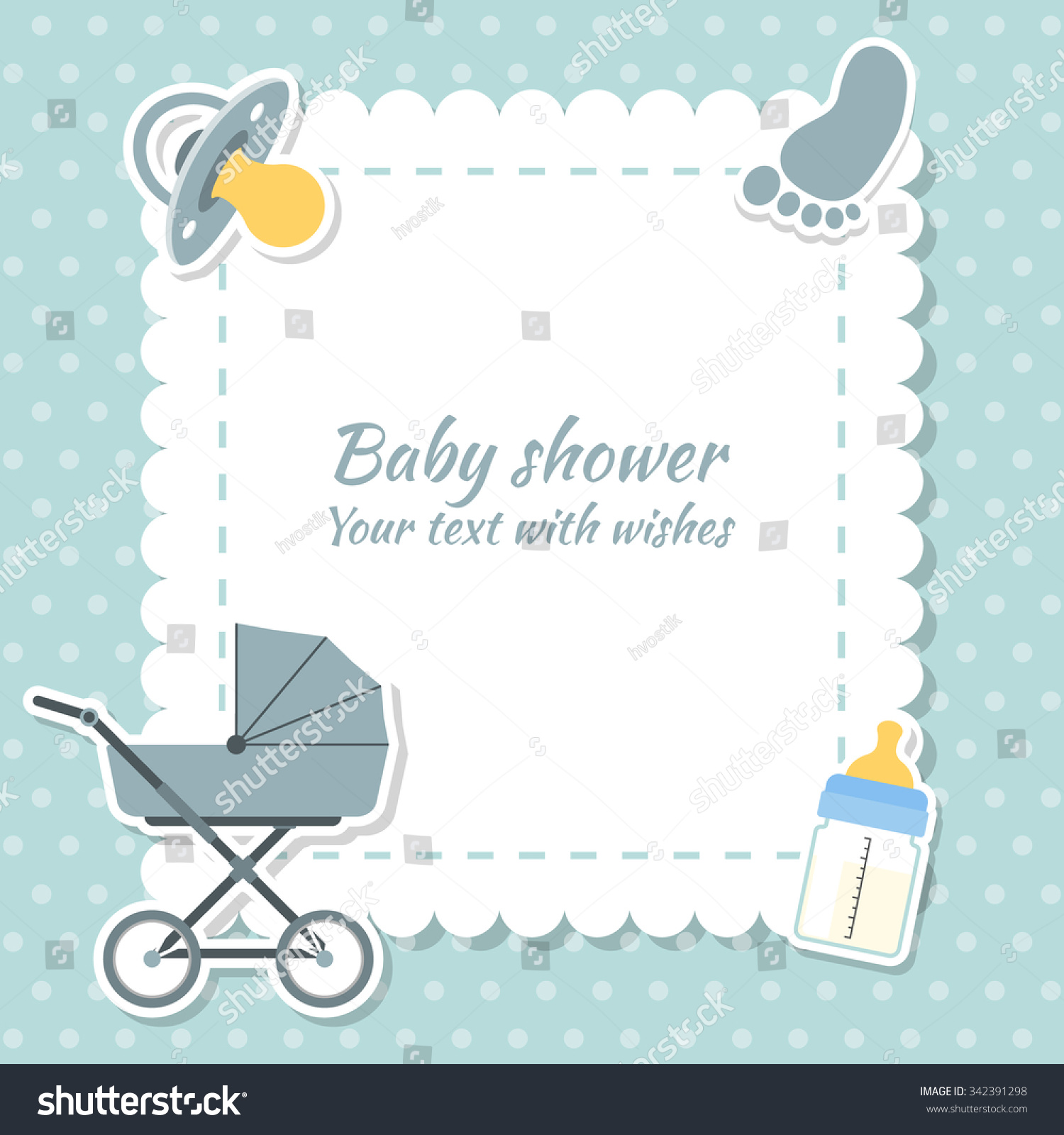 baby shower place cards template - baby shower boy invitation card place stock vector