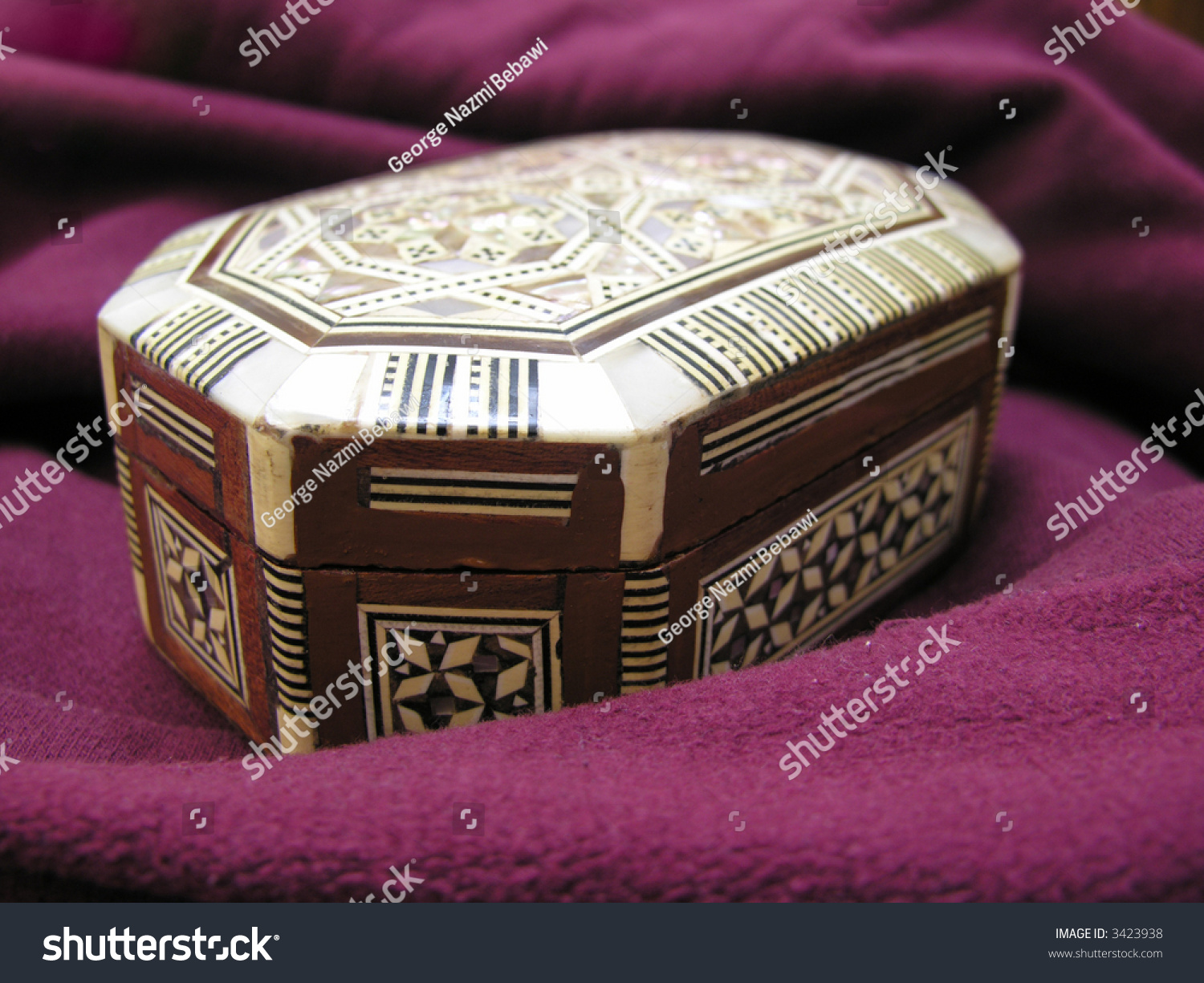 Egyptian Jewelry Box On Red Blanket Stock Photo 3423938 Shutterstock