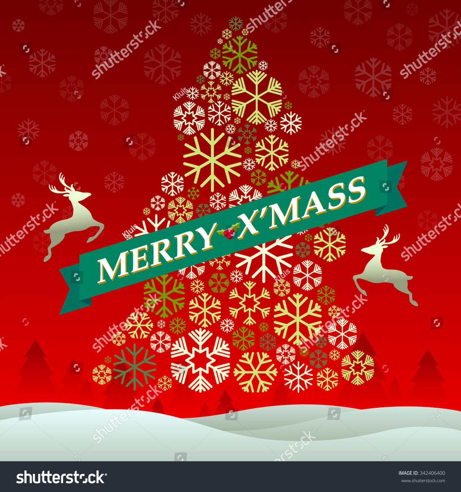 Merry X Mass Vector Illustration Stock Vector (Royalty Free ...