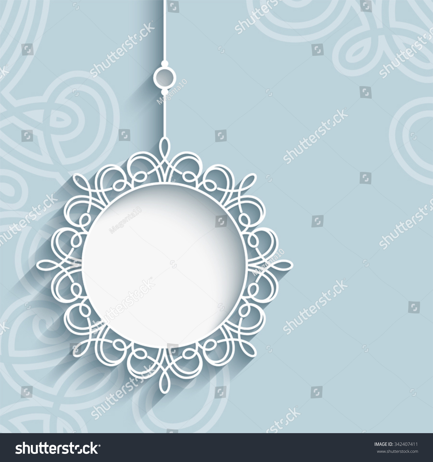 Elegant And Neutral Christmas Foyer: Elegant Lace Pendant On Ornamental Neutral Stock Vector