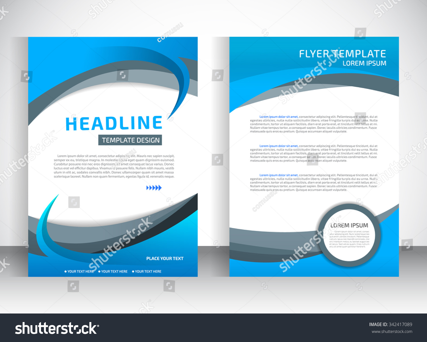 report cover template business presentation brochure stock vector report cover template for business presentation or brochure blue and white material design style vector