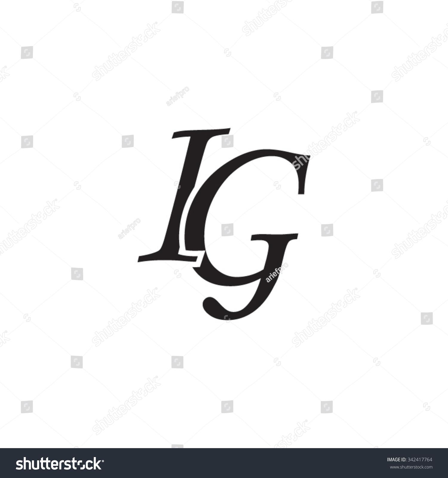 Ig Initial Monogram Logo Stock Vector Royalty Free 342417764