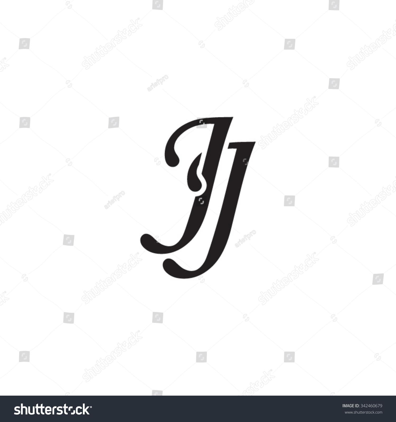 jj initial monogram logo stock vector 342460679 shutterstock