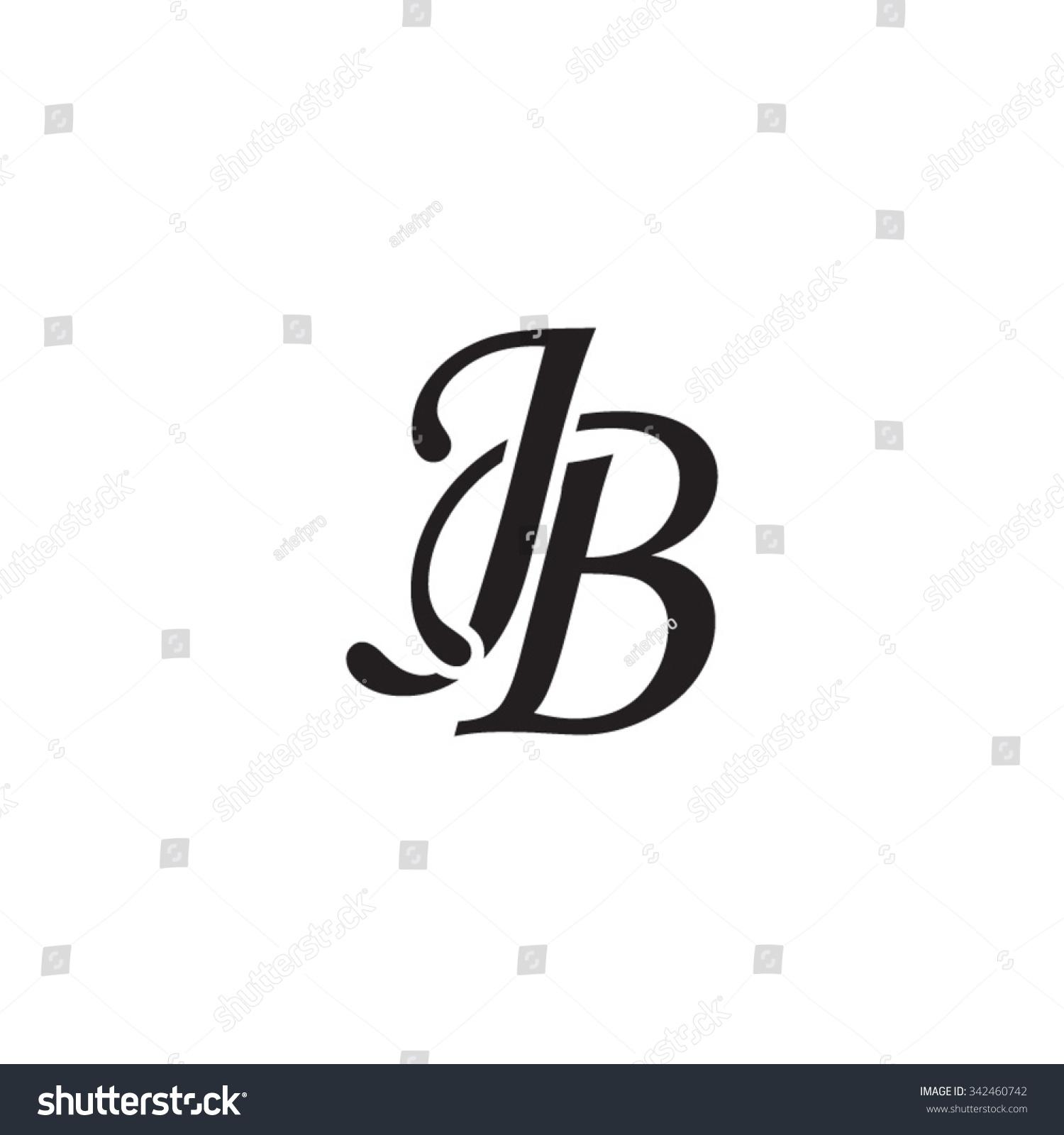 stock-vector-jb-initial-monogram-logo-342460742 Antique Monogram Letter C Template on