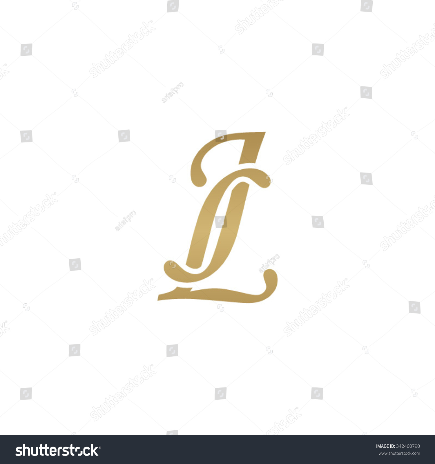 Tj initial luxury ornament monogram logo stock vector - Jl Initial Monogram Logo