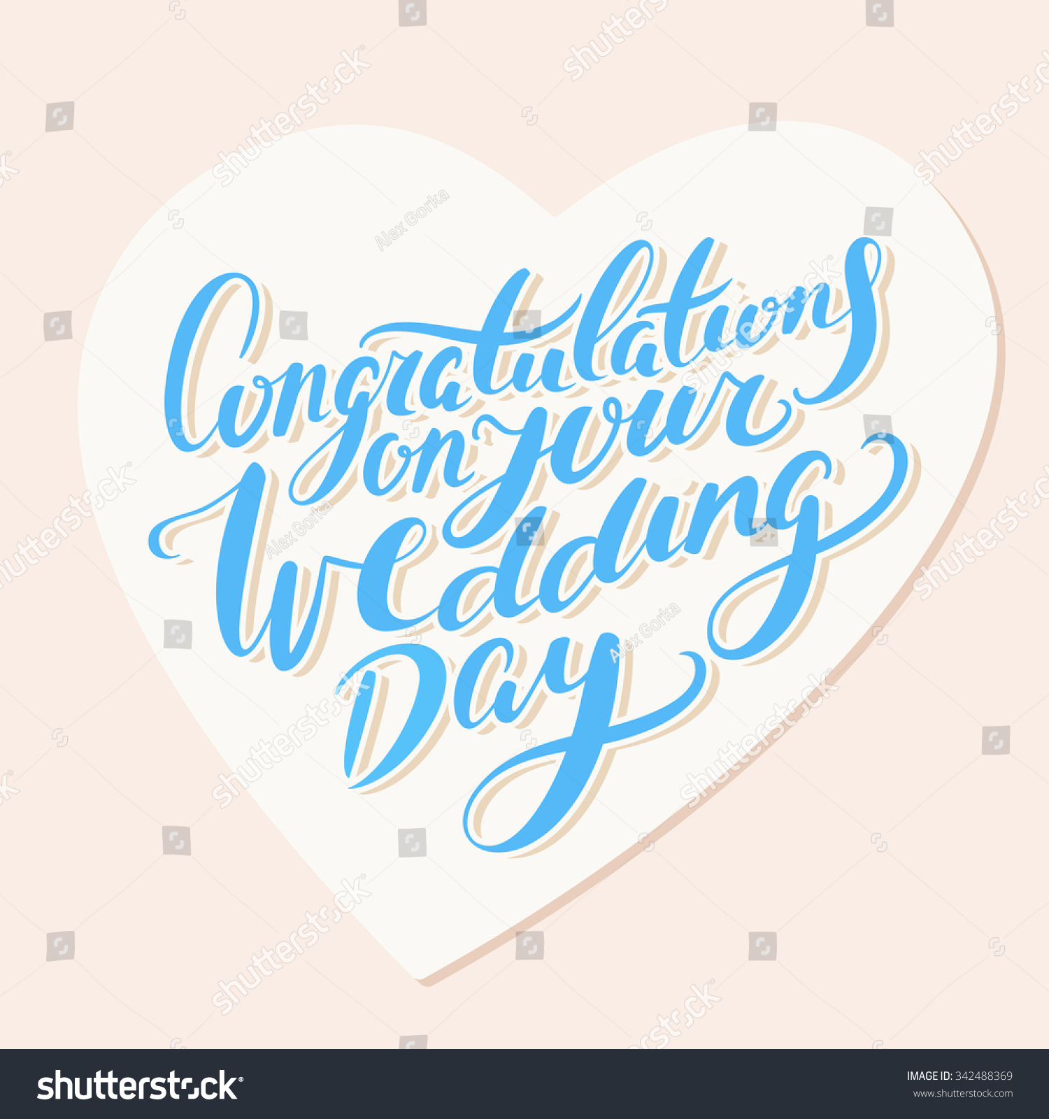 congratulations on your wedding day greeting card