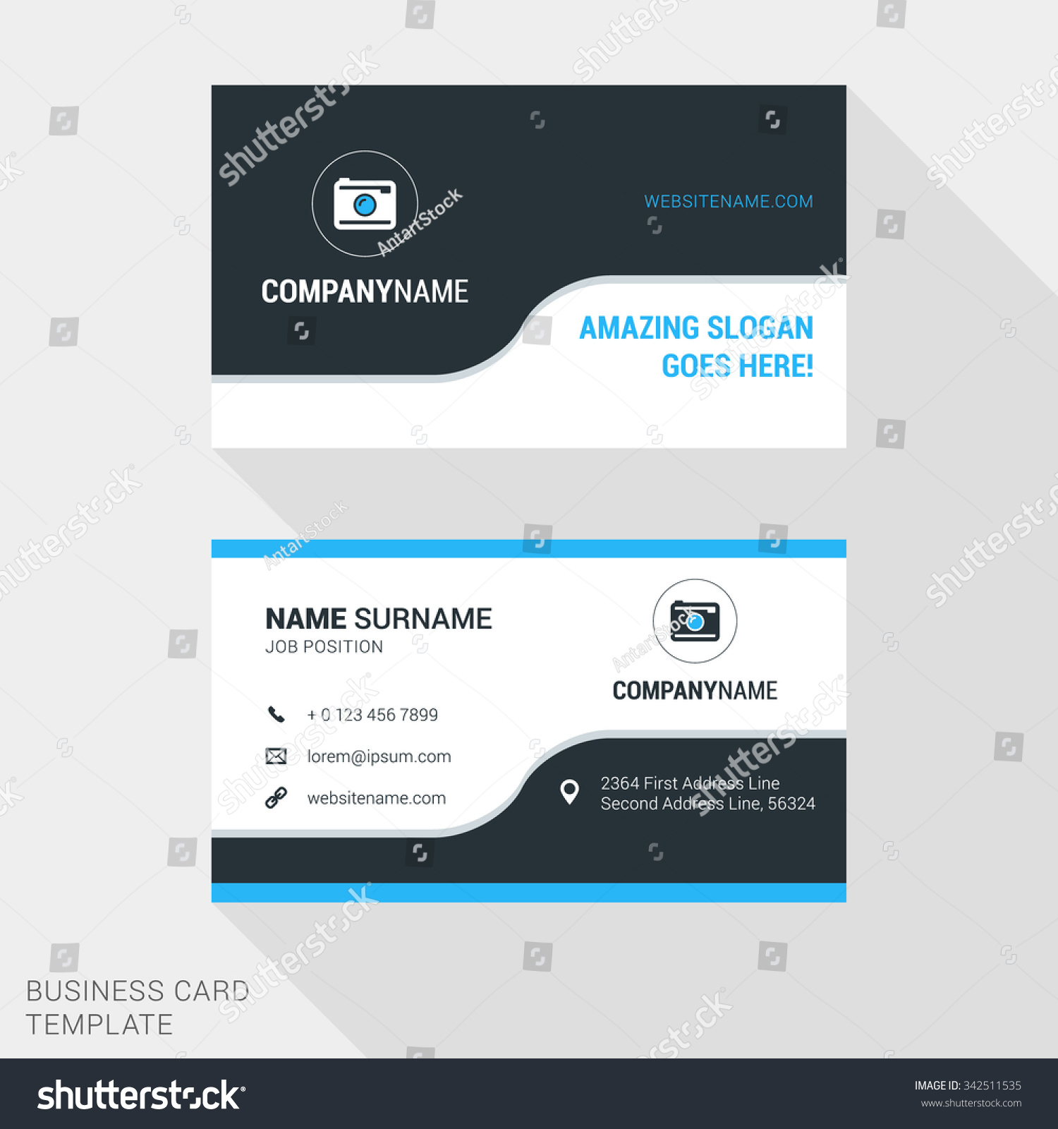 modern creative clean business card template stock vector