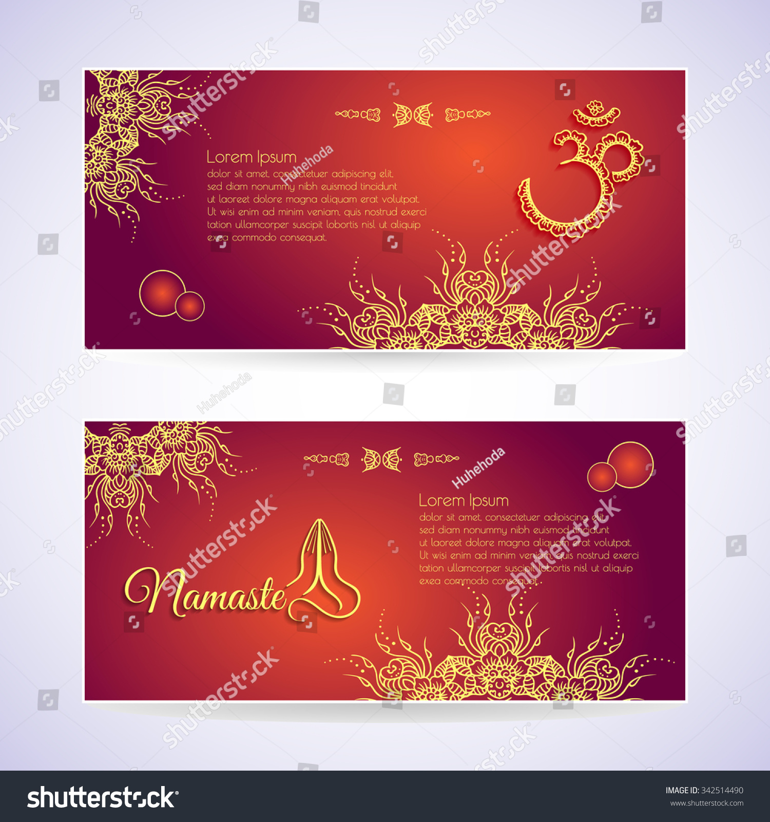 Website template yoga card floral henna stock vector royalty free website template yoga card with floral henna mehendi design om aum namaste yoga studio or for wajeb Gallery