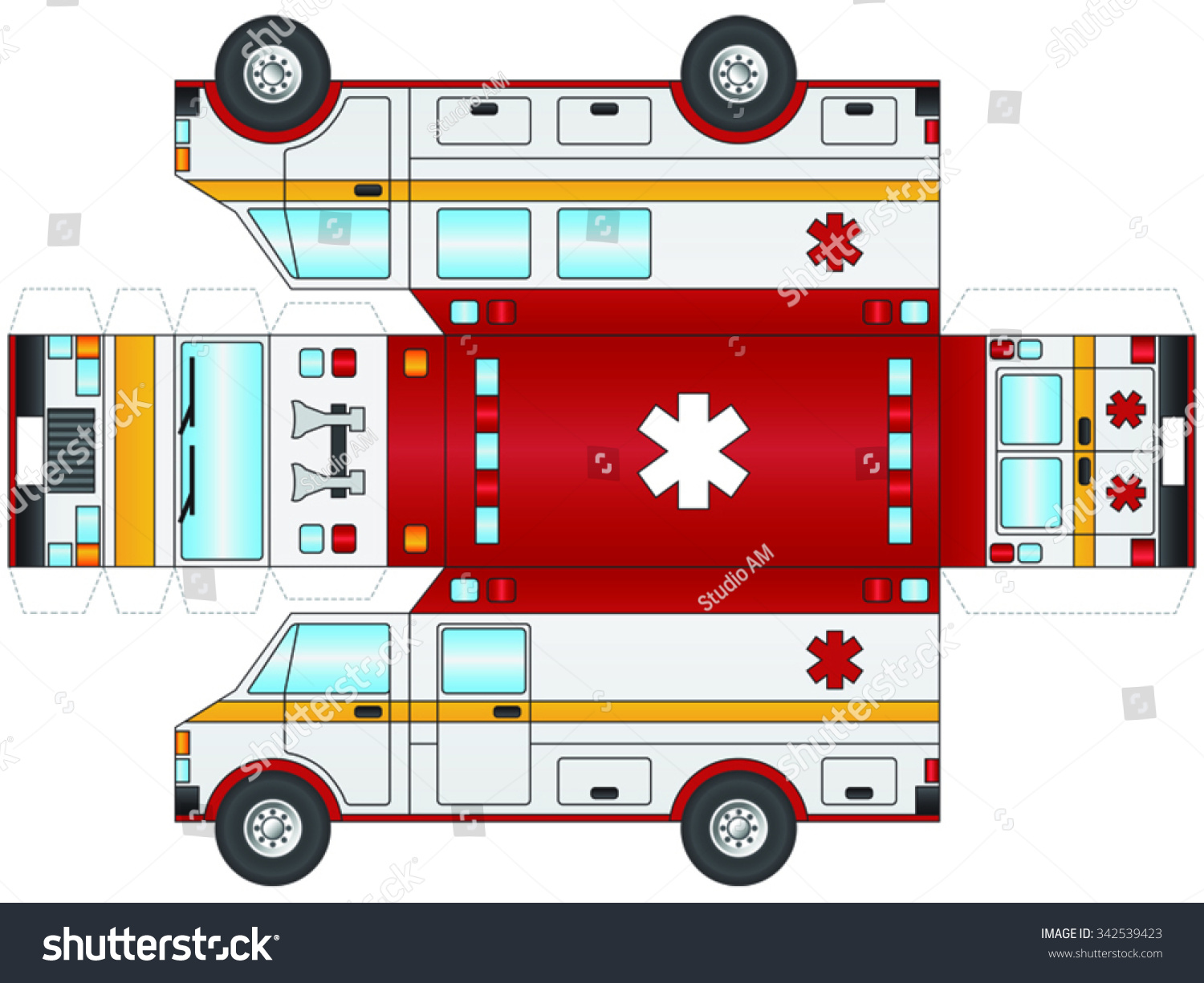 how to make an ambulance out of paper