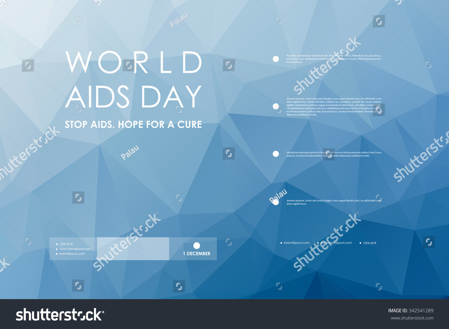aids brochure template - set of brochure poster templates in world aids day style