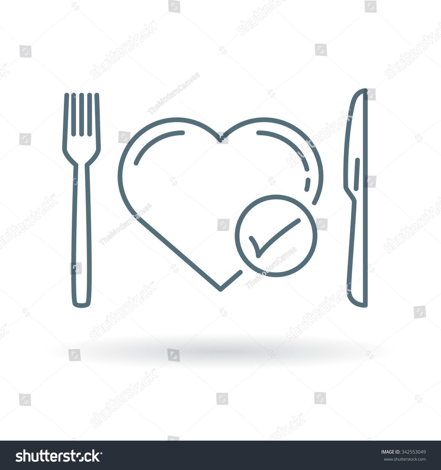 Conceptual eat healthy icon healthy heart stock vector 342553049 healthy heart diet sign knife fork and heart symbol biocorpaavc