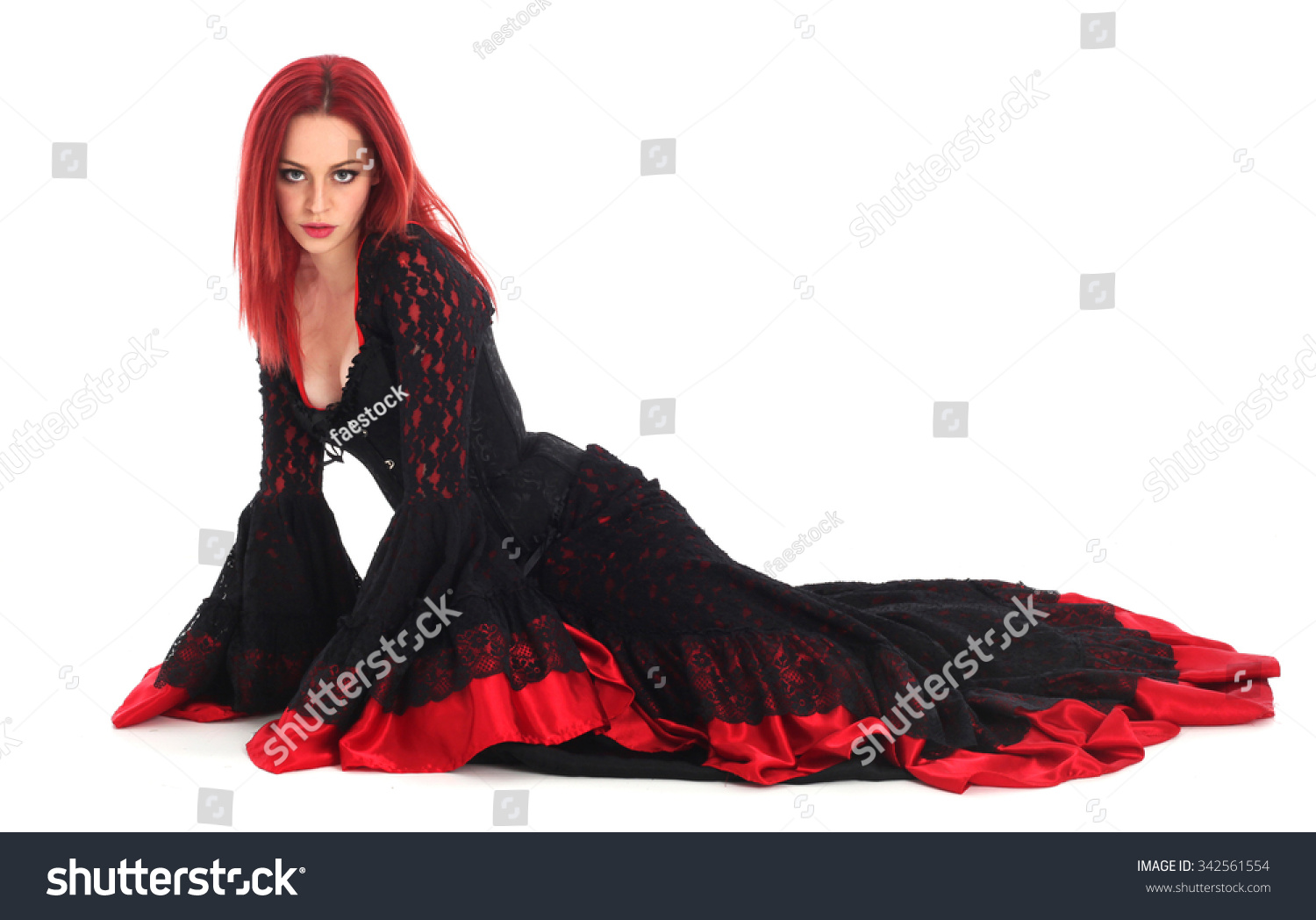 3b43617e77 Beautiful Young Girl Red Hair Wearing Stock Photo (Edit Now ...