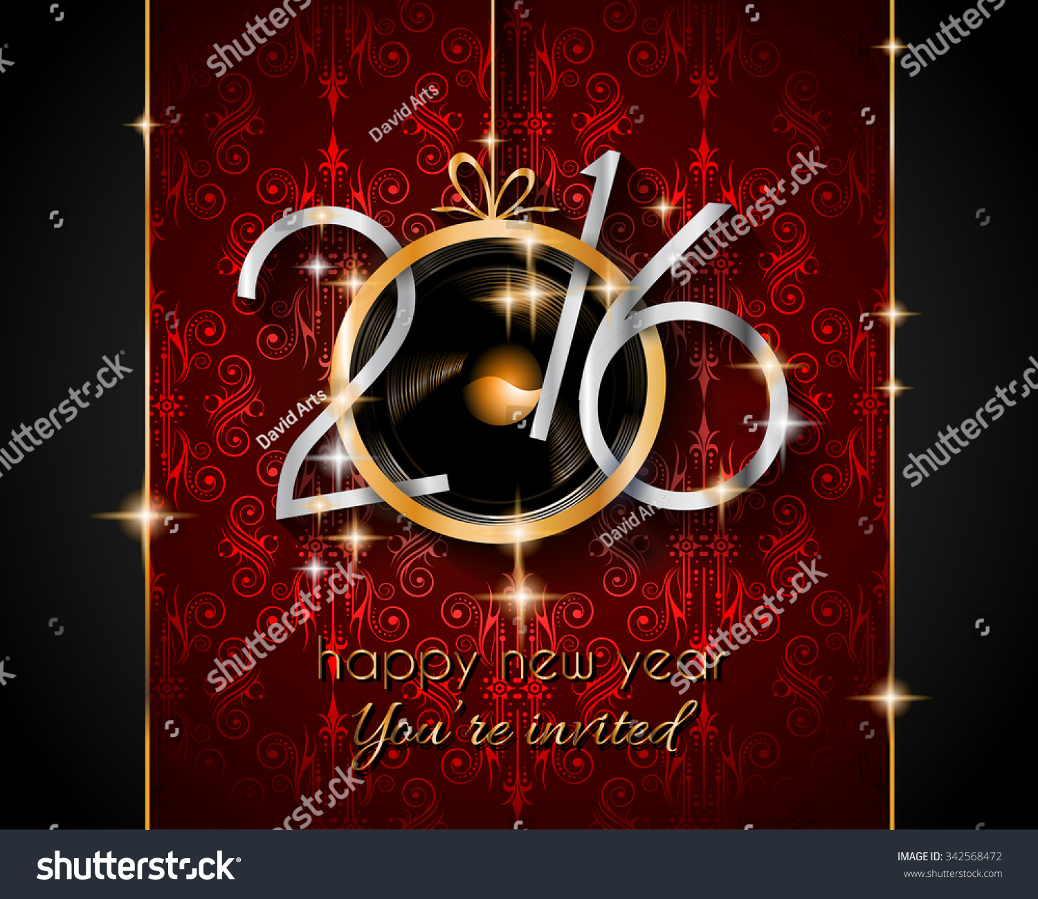 2016 Happy New Year and Merry Christmas Background for your seasonal wallpapers greetings card dinner invitations pary flyers covers and so on