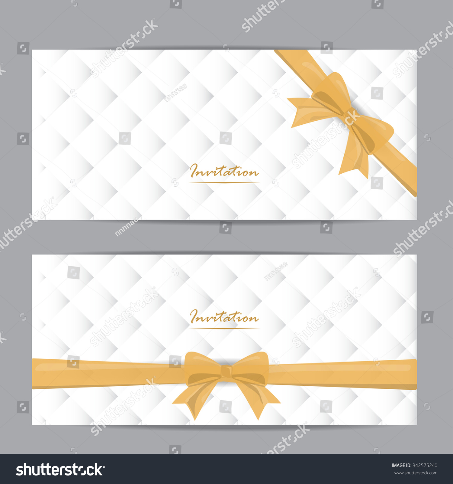 White Gold Gift Voucher Certificate Coupon Stock Vector Royalty