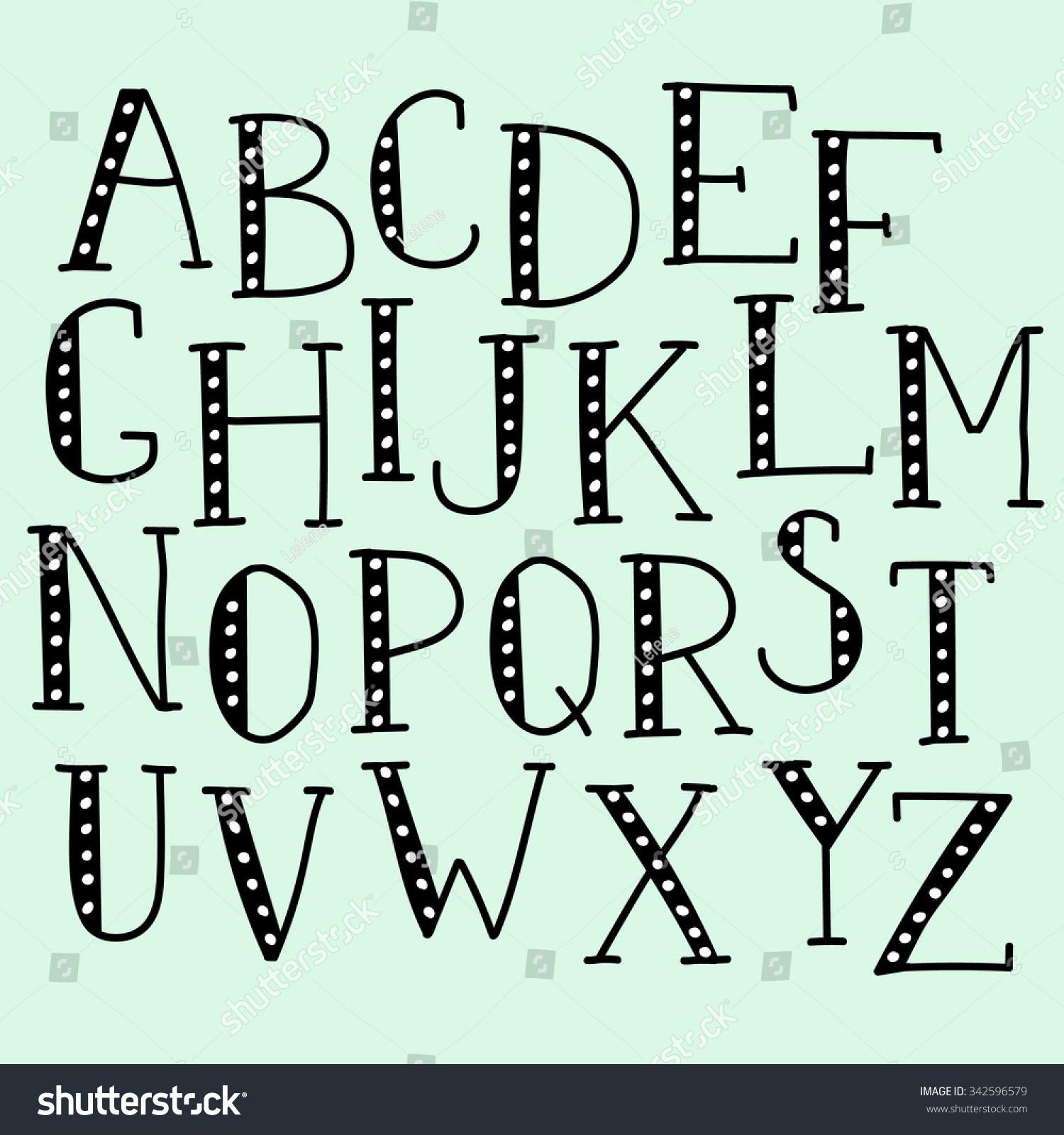 Vector Doodle Alphabet Vector Simple Hand Stock Vector ...