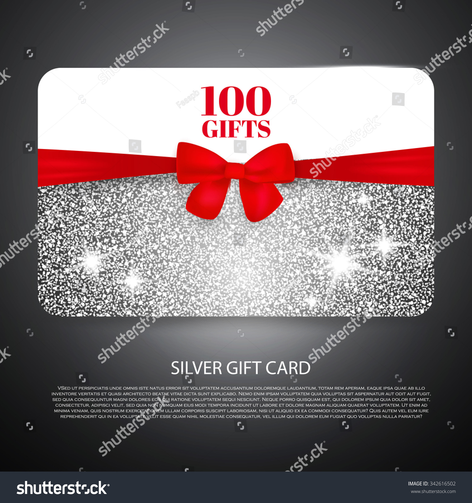 silver t coupon t card discount stock vector