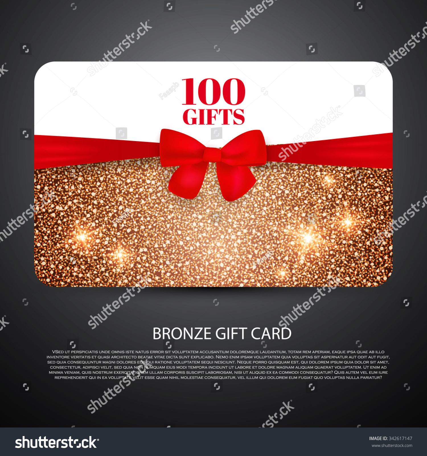 bronze gift coupon gift card discount stock vector royalty free