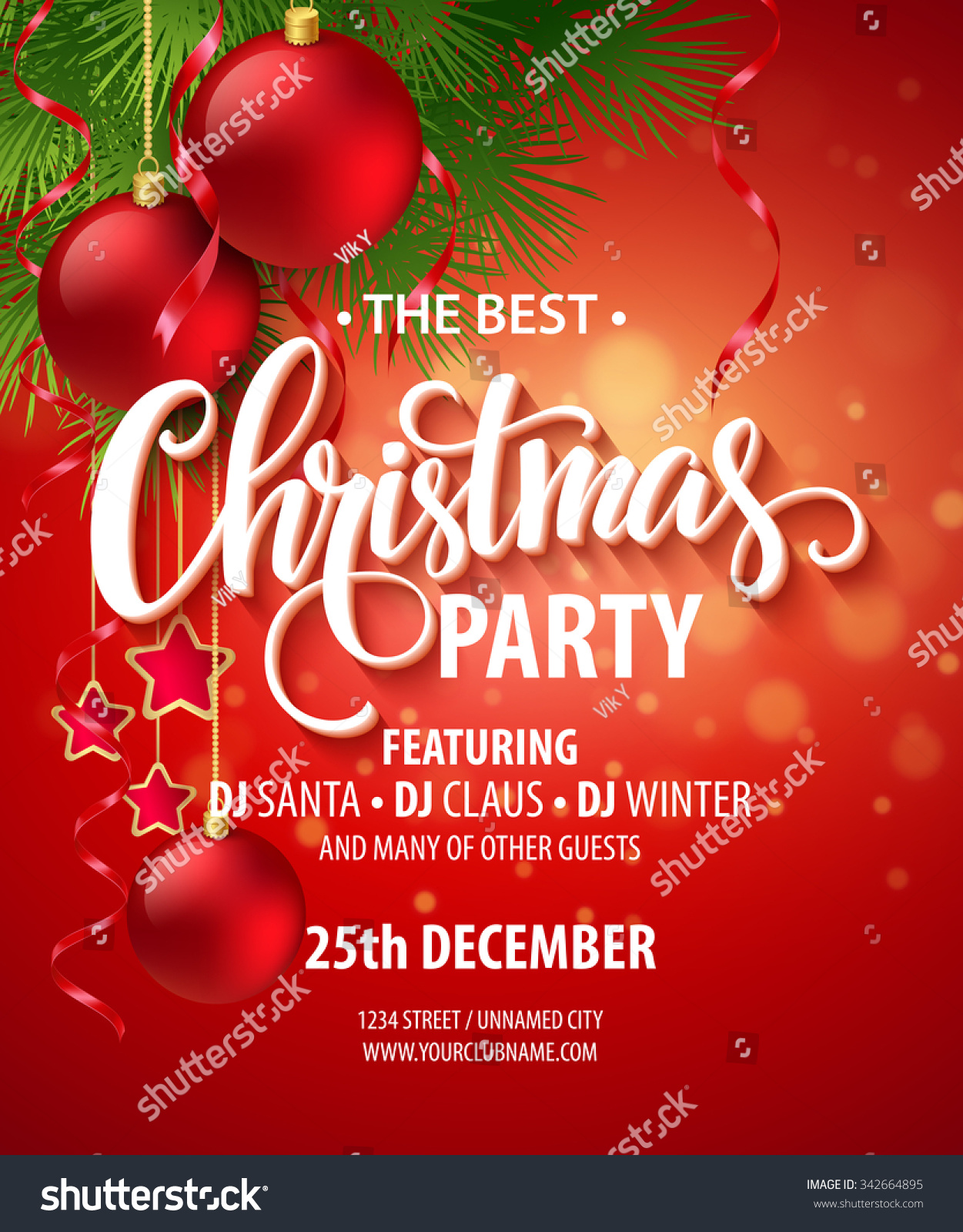 Vector christmas party design template vector illustration eps10